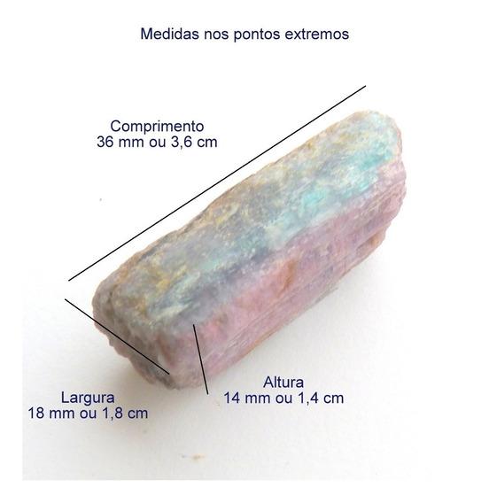 Turmalina Paraíba Violeta Bruta Pedra Natural Pb3163