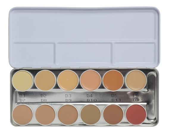 Kryolan Dermacolor 12 Colores Paletas 6 Cuotas Sin Interes
