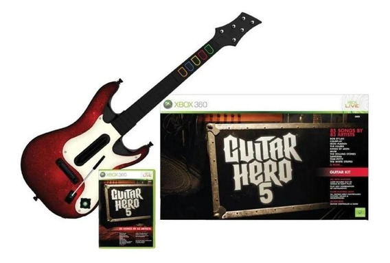 Guitar Hero 5 Bundle Xbox 360 Mídia Física Pronta Entrega