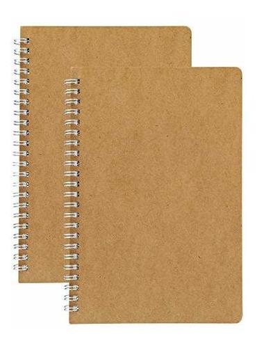 (paquete De 2) Cuaderno Espiral De Rejilla De Puntos Hulytra