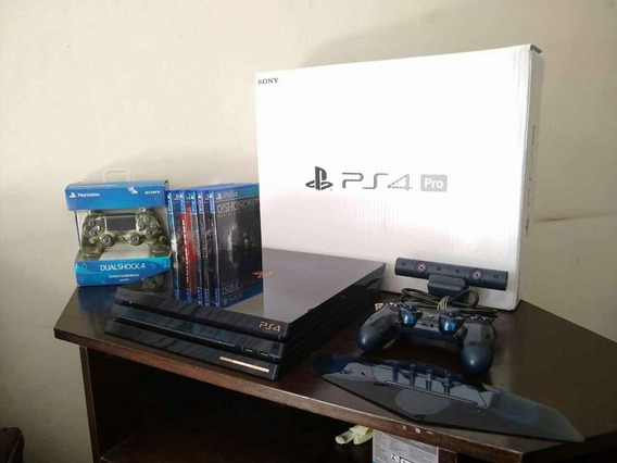 Ps4 Pro 500 Milion Limited Edition + 2 Controles + 5 Jogos