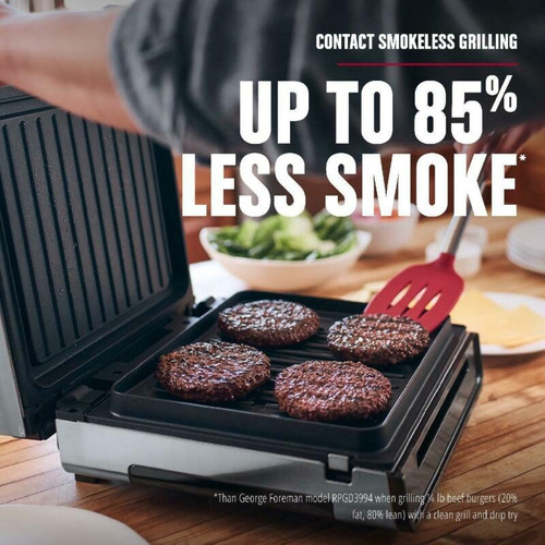 Contact Smokeless Ready Grill Tamaño Familiar 4-6 Porciones
