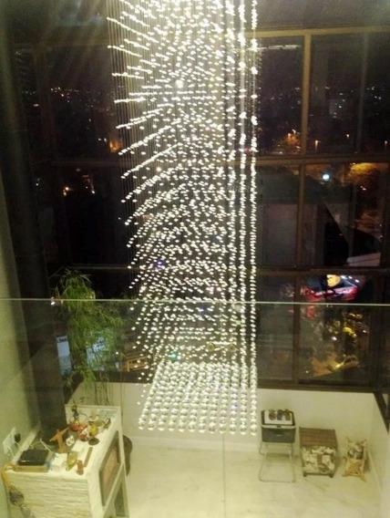 Lustre De Cristal Pendente 2,50m