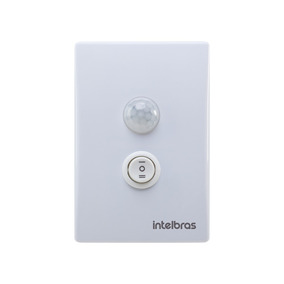 Sensor Presença Iluminação C/ Interruptor Intelbras Branco