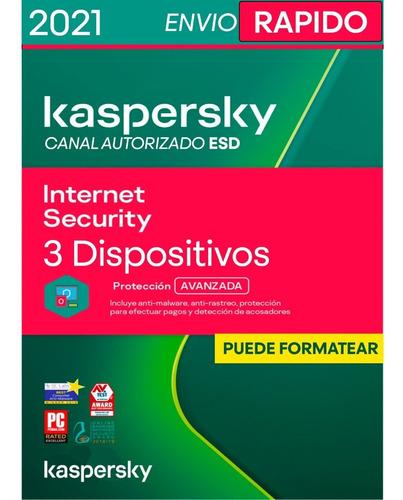 Kaspersky Internet Security 3 Pc 1 Año Oferta Especial
