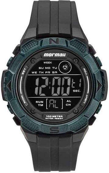 Relógio Mormaii Preto Silicone Mo2908aa/8v + Nota Garantia