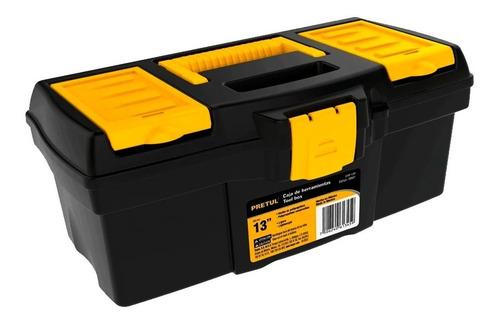 Imagen 1 de 2 de Caja Para Herramienta Con Compartimentos Pretul Chp-13cp Broche Amarillo 13 PuLG Plástico Mv Electronica