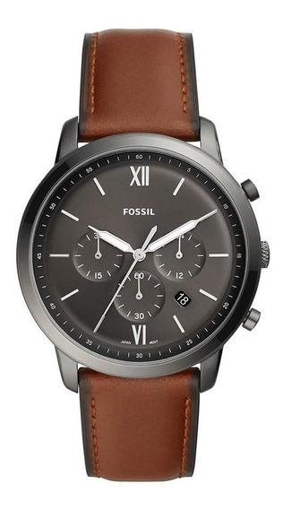 Relógio Fossil Masculino Ref: Fs5512/0cn Cronógrafo Ambar