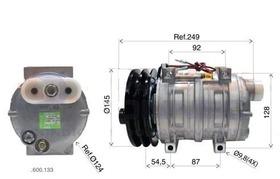Compressor Caterpillar Retroescavadeira Tm21 Hpad 12v 2a