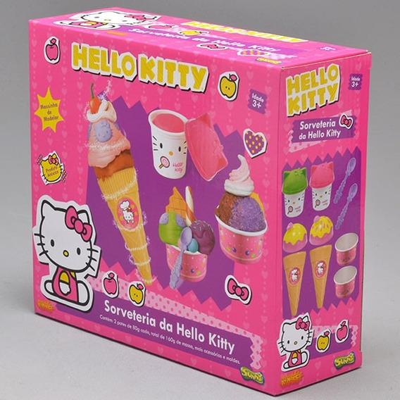 Hello Kitty Sorveteria Sunny Massinha De Modelar.