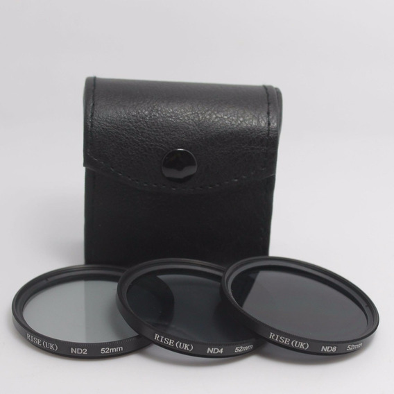 Kit De Filtro Nd2 + Nd4 + Nd8 +case 52mm Ou 67mm Canon Nikon