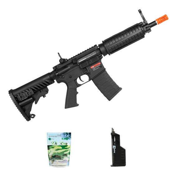 Rifle Airsoft Aps M4 C33 Kompetitor + Speed Loader + Bbs