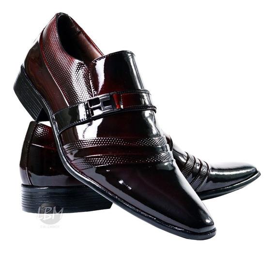 Sapato Verniz Social Masculino 100%couro Primaveraverão 2018