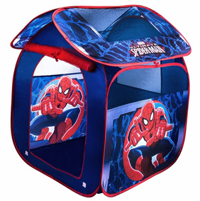 Casinha Barraca Infantil Dobrável Cabana Spider Homem Aranha