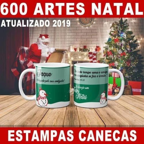 Pacote 600 Estampas Canecas Natal Papai Noel Atualizado