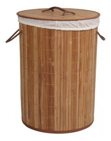 Cesto De Bambu Ripado Acasa Móveis Carbonizado Ie
