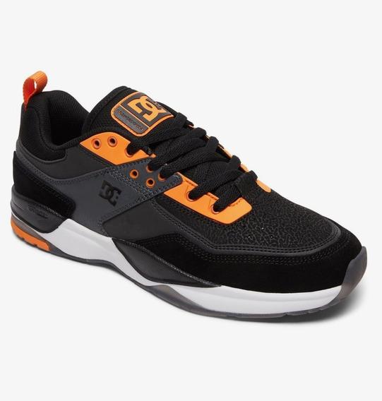Tênis Dc Shoes E Tribeka S Se Preto/couro Promoção Unissex