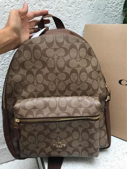 Backpack Coach 100% Original Grande Monograma Camel