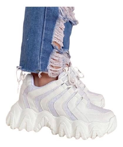 Zapatos Tenis Zapatillas Plataforma Deportivos Dama Mujer