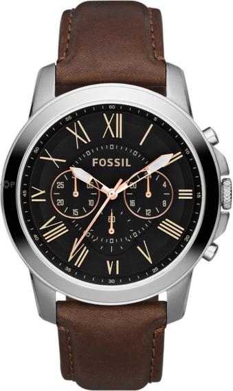 Reloj Fossil Fs4813 Correa De Cuero - 100% Nuevo En Caja