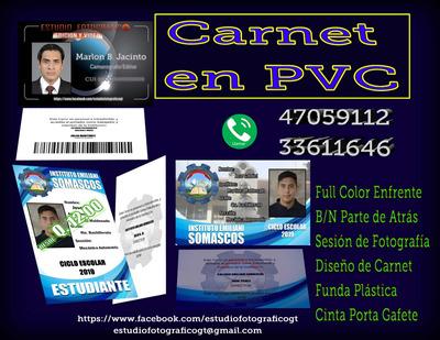 Carnet Pvc Gafetes En Pvc Impresion Full Color