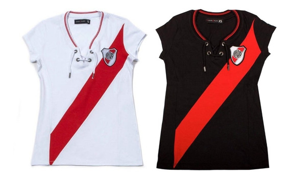Camiseta River Plate Mujer Dama Retro Cordones