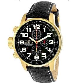 Relógio Invicta Original 18k Pulseira Em Couro Iforce 3330