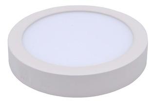 Plafon Led Aplicar Redondo 24w Aluminio Calido Frio Full