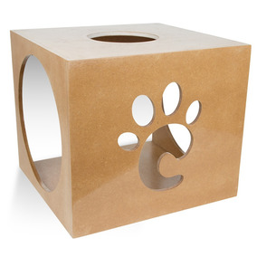Casinha Casa Nicho Toca Natural Para Gatos Carlu Pet 7026