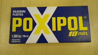 Soldadura Adhesivo Poxipol 10 Min Grande 700 Ml 1085 Kg Gris