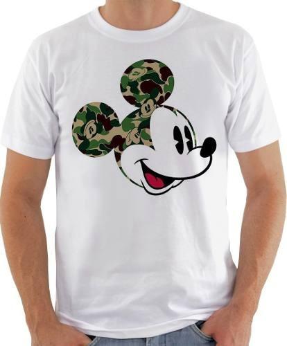 Camisa Camiseta Blusa Unissex Mickey Swag Camuflado 408