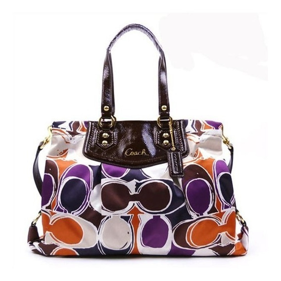 Cartera Coach Modelo Ashley Scarf 20113 Nueva!!!!!