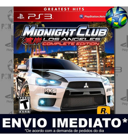 Midnight Club Los Angeles Ps3 Midia Digital Envio Imediato