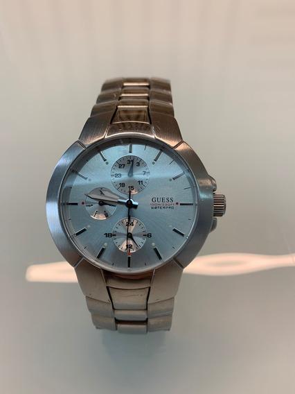 Relógio Guess G85658g Pulseira De Aço À Prova D