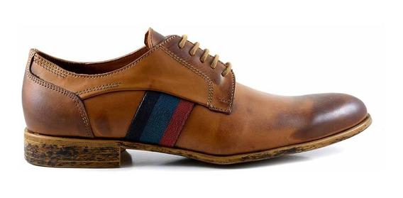 Zapato Hombre Acordonado Cuero Briganti Goma - Hcac00959