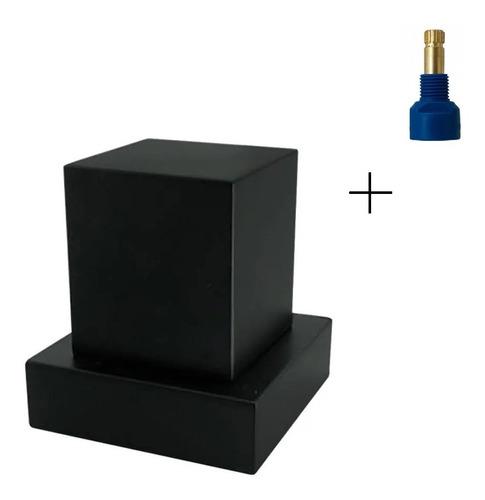 Acabamento P/ Registro Quadrado Preto + Conversor Fabrimar