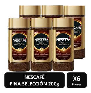 Cafe Nescafe Fina Selección Frasco 200g X6