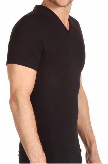 Camiseta Reduce Moldea Hombre Perfect Shapeman Playera Negro