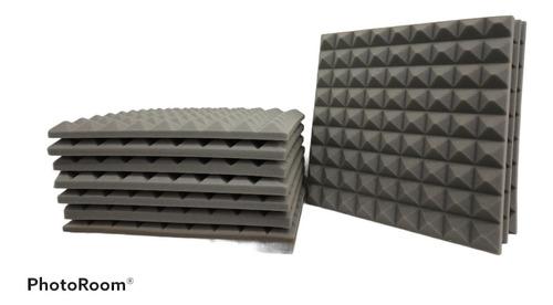 Paneles Acústicos 45×45×5cm Color Gris( Goma Espuma )