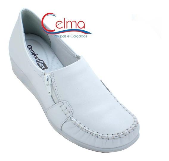 1693333 / 1793403 Sapato Branco Comfortflex Couro Enfermagem