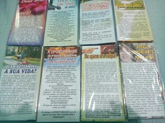 Panfletos De Evangelização Caixa Com 5000 + Chaveiro Brinde