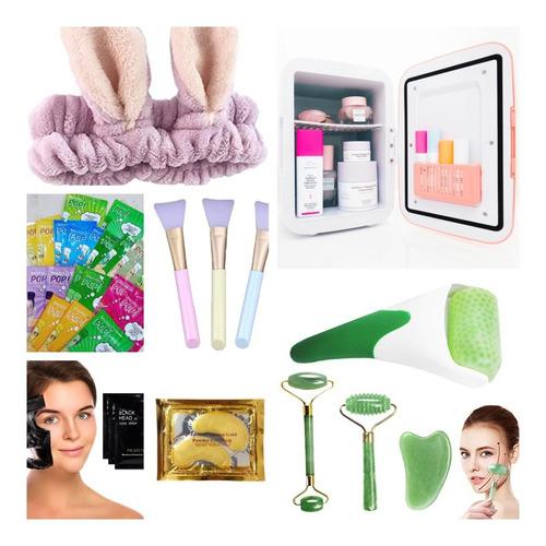 Imagen 1 de 10 de Mega  Kit De Skin Care 50 Productos De Cuidado Facial Spa
