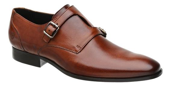 Sapato Monk Masculino Malbork Em Couro Caramelo 60052