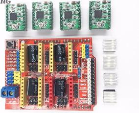 Cnc Escudo V3 Máquina De Gravação Impressora 3d 4pcs A4988
