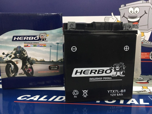 Bateria Herbo Motos Ytx7a-bs C/ Bidon Original