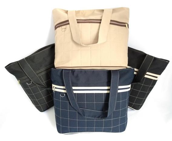 Bolsa Sacola Grande Tecido Oxford Alça/ombro Lindas Cores