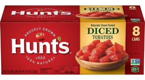 Hunt's Tomates Picados En Cubitos Pack X 8 Latas 176219