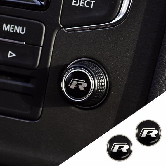 Acessórios Aplique Botão Rádio Rline Vw Golf Saveiro Polo Up