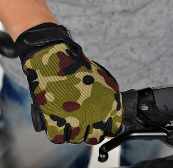 Guantes Deportivos/tácticos/ Biker. Color Camuflaje Talla M