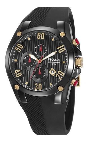 Relógio Seculus Masculino Ref: 28207gpsvpu3 Cronógrafo Black